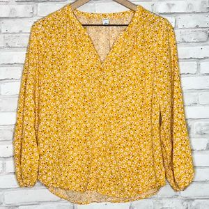 Old Navy floral blouson top s